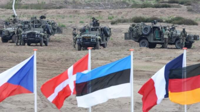 Natoländer i övning. Foto: Alik Keplicz/AP