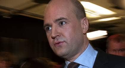 Statsminister Fredrik Reinfeldt. Foto: Roger Vikström