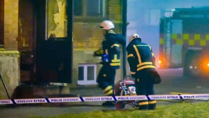 Det brann även i Klippan natten till lördag. Foto: Jan Emanuelsson/Topnews.Se