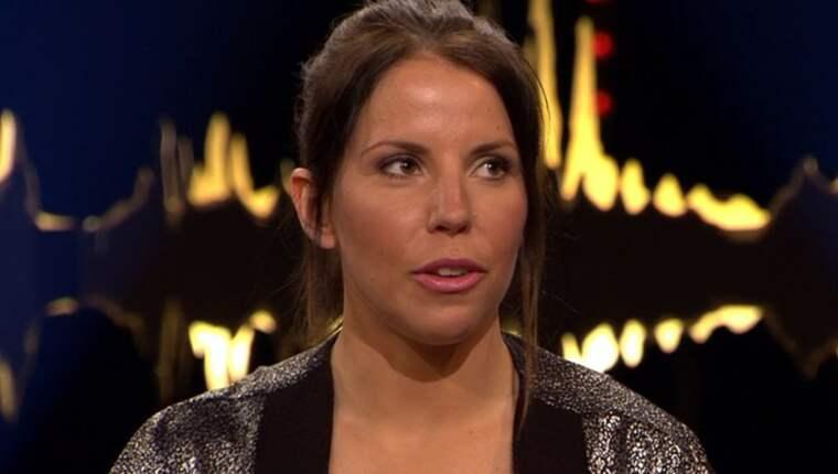 """Charlotte Kalla i """"Skavlan"""". Foto: SVT"""