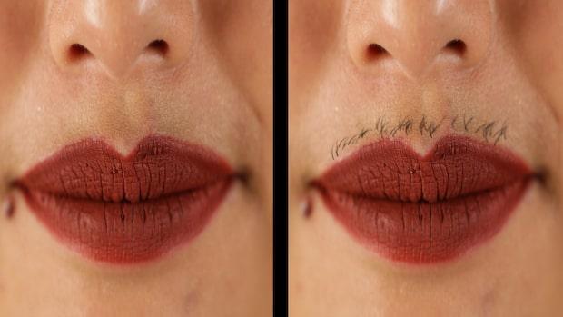 Kvinnor lät håret i ansiktet växa i en månad