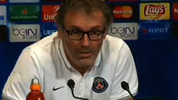 Laurent Blanc på presskonferensen