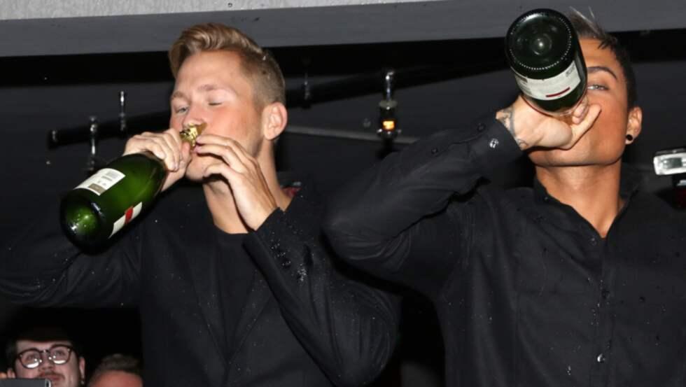 Viktor och Samir firade sin finalplats. Foto: Stella Pictures