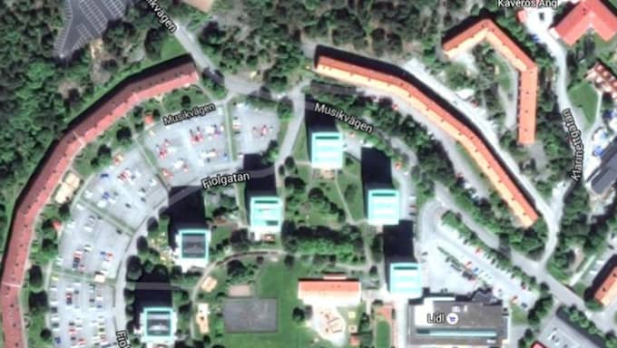 Här överfölls kvinnorna. Foto: Google Maps