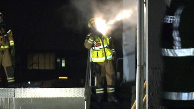 En brand har under morgonen rasat i en cafélokal i Malmö. Foto: Mikael Nilsson