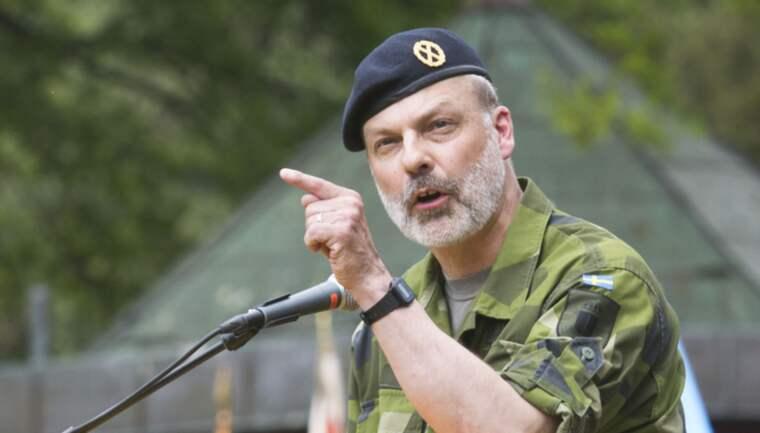 Sveriges arméchef Anders Brännström menar att Sverige kan vara i krig inom några år. Foto: Erik Åhman