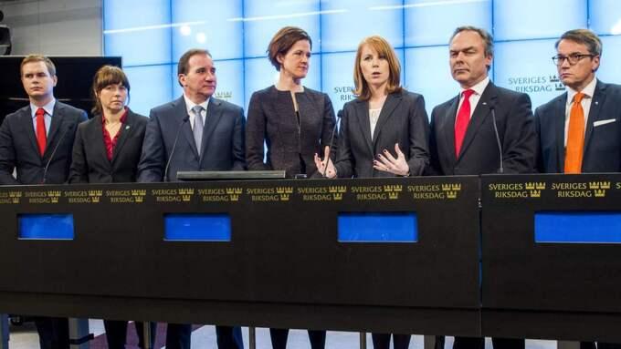 Partierna offentliggör decemberöverenskommelsen. Foto: Suvad Mrkonjic