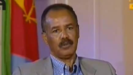 Eritreas diktator Isaias Afewerki höll tal på fredagen.