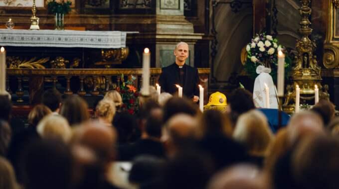 """""""Kyrkan var full av familj och vänner"""", säger pastor Andreas Nielsen som förrättade begravningen. Foto: Hillsong Church"""