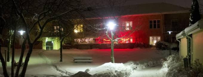 Här i radhusområdet i Uppsala mördades den 37-årige mannen. Foto: Sven Lindwall