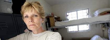 Annika Östberg i kvinnofängelset Chino i USA. Foto: Suvad Mrkonjic