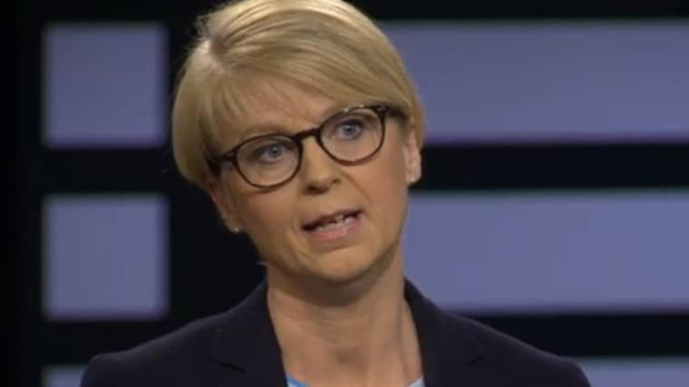 """Moderaterna ger på nytt kalla handen åt Sverigedemokraternas invit. """"Det är helt otänkbart, av flera skäl"""", säger Elisabeth Svantesson (M), efter Agenda i SVT. Foto: Skärmdump från SVT"""