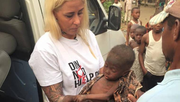 I slutet av januari togs Hope om hand. Då hade han under flera månaders tid gått runt ensam på gatorna i byn och ätit rester. Foto: African Children's aid education and development f