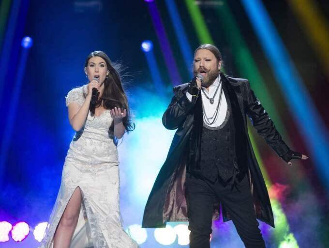 Rickard Söderberg deltog i Melodifestivalen 2015 tillsammans med Elize Ryd. Foto: Sven Lindwall