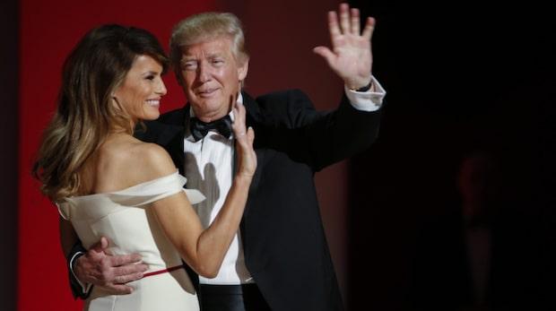 Donald och Melania Trump dansade in mandatperioden
