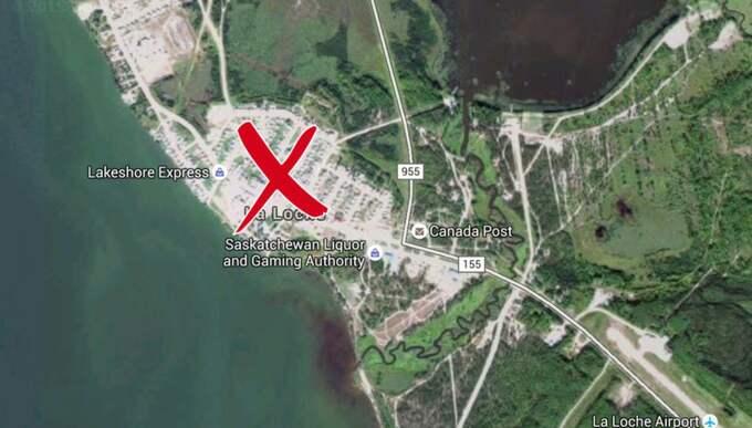 Platsen där skjutningen ägde rum i Saskachewan, Kanada