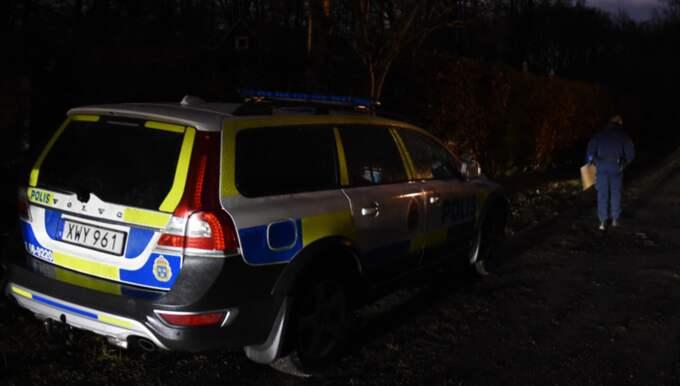 Efter mindre än en timme greps en misstänkt man i närområdet. Foto: Jens Christian Andersson
