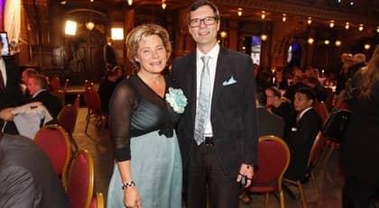 Äldre- och folkhälsominister Maria Larsson med maken Gunnar Larsson. Foto: Roger Vikström