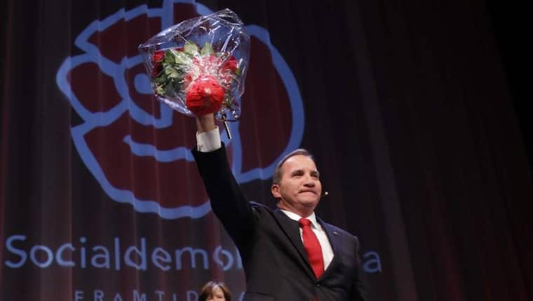 SVAG SEGRARE. Stefan Löfven blir statsminister, men S-ledaren sitter i en besvärlig sits när han ska forma en regeringskoalition efter valet.. Foto: lisa mattisson