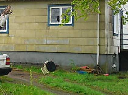 Lars Vilks hus utsattes för mordbrand. Foto: Helene Bengtsson /Mediabasen