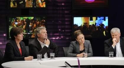 - Jag har inga planer på att avgår. Jag har ett bastant stöd, sade hon i SVT. Foto: Anders Wiklund / Scanpix