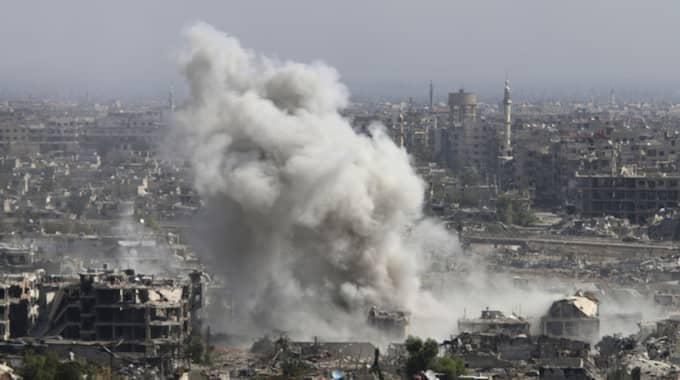 Ryssland intensifierade sina bombningar i Syrien inför vapenvilan. Foto: Alexander Kots