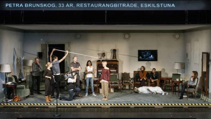 """Röster. """"The Mental States of Sweden"""" sattes upp på Dramaten 2013. Pjäsen är en av två i boken """"United States of Sweden"""". Foto: Sören Vilks"""