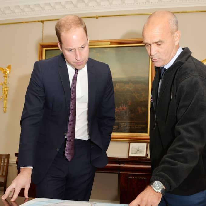 Prins William tillsammans med Henry Worsley.
