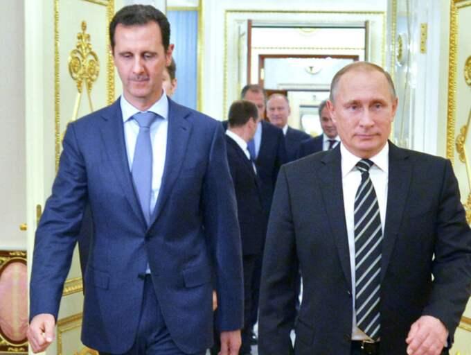 al-Assad och Vladimir Putin.