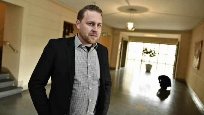 Mattias Karlsson, SD:s gruppledare i riksdagen. Foto: Mikael Sjöberg