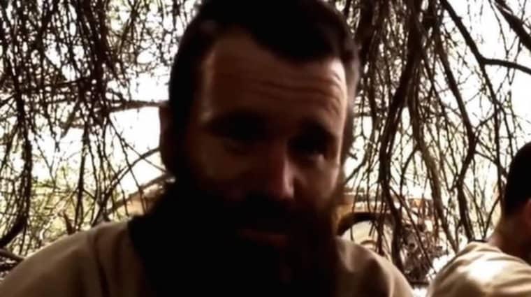 Johan Gustafsson från Värnamo har hållits som gisslan i Mali i drygt fyra år. Foto: Skärmdump