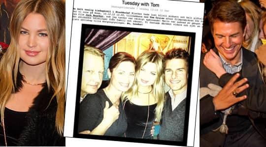 Jennifer Åkerman umgicks med Tom Cruise under sitt Sverigebesök.