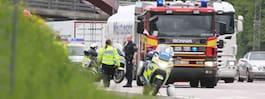Polisman till sjukhus efter olycka