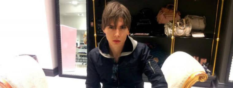 Porrskådisen Luka Rocco Magnotta, 29, misstänks för ett brutalt mord. Foto: Scanpix