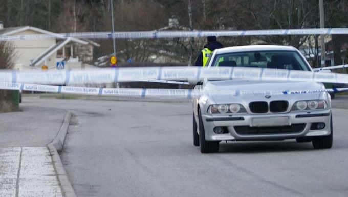 Trafikbråket startade på en väg i Tullinge. Foto: Stefan Johansson