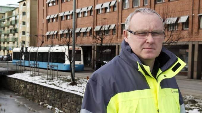 """VILL HEMLIGHÅLLA. Bo Larson, projektchef för Västlänken vill hålla kostnaderna för Västlänken hemliga. """"Vi håller budget"""", säger han. Foto: Per Wissing"""