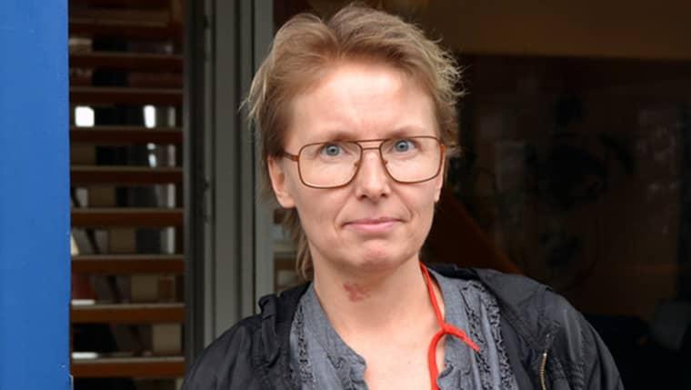 Veronica Hakemo mordhotades av en boende strax innan jul. Foto: Mikael Berglund