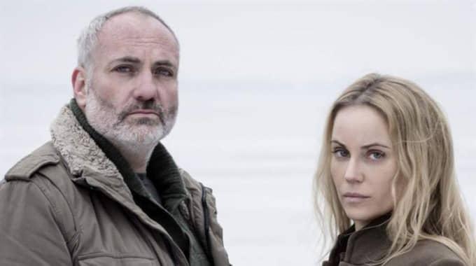 """Karaktären Martin Rhode och Saga Norén ur SVT:s """"Bron"""". Foto: Carolina Romare/SVT"""