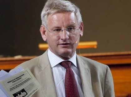 Carl Bildt satt i styrelsen av Lundin Oil under den aktuella tiden. Foto: Joachim Wall