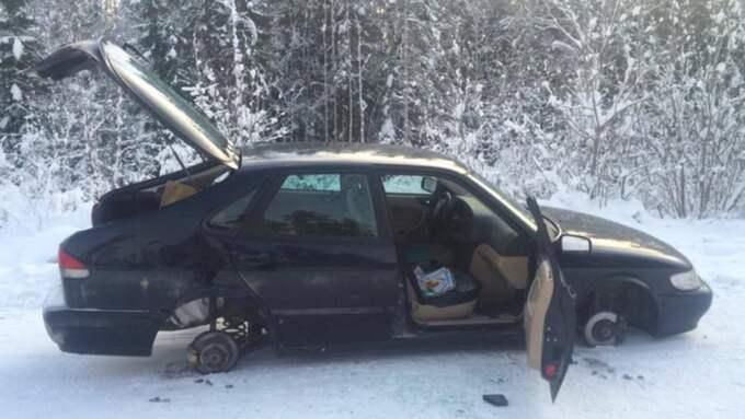 Dagen efter fick hon ett samtal om att bilen var sönderslagen. Foto: Privat
