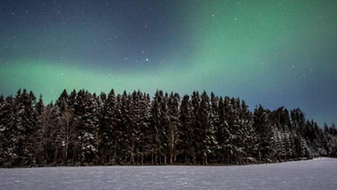 Hobbyfotografen Axel Hagström hade turen under onsdagskvällen när han var ute. Fick se sitt livs första norrsken. Foto: Axel Hagström