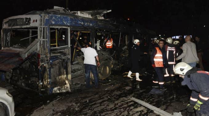 Minst 27 personer har dött och 75 skadats i explosionen i huvudstaden Ankara. Foto: Str