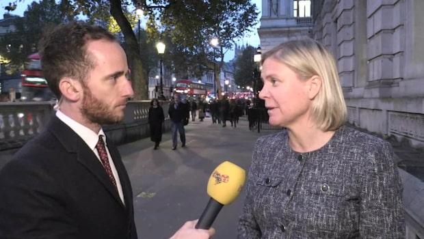 """Magdalena Andersson mötte brittiske finansministern: """"I huvudsak pratat om Brexit"""""""