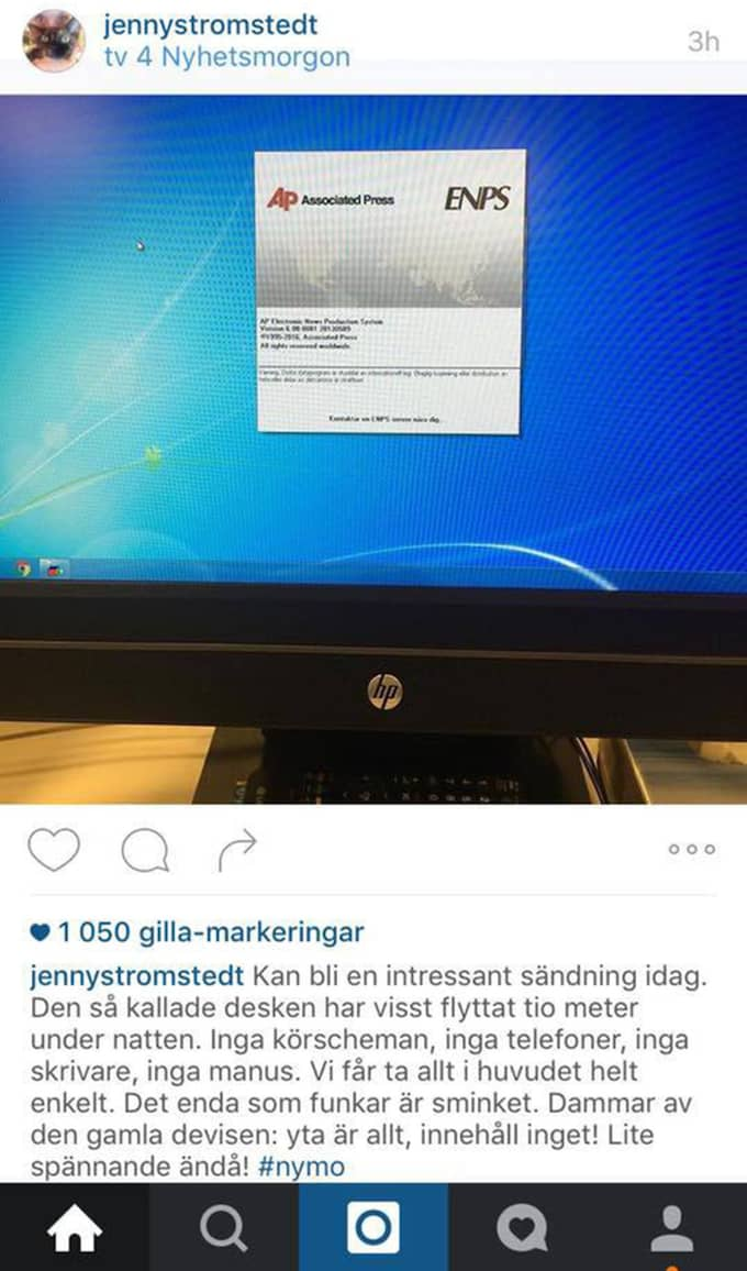 Jenny Strömstedt på Instagram.