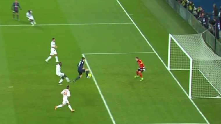 Här sätter svensken 2–1. Foto: C More Sport.