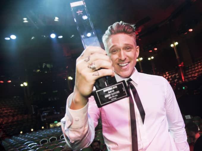 """Danny Saucedo prisades med en Grammis för """"Årets låt"""". Foto: Olle Sporrong"""