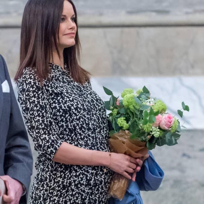 Sofias gravidmage hade blivit rejält mycket större. Foto: Pelle T Nilsson/AOP-IBL