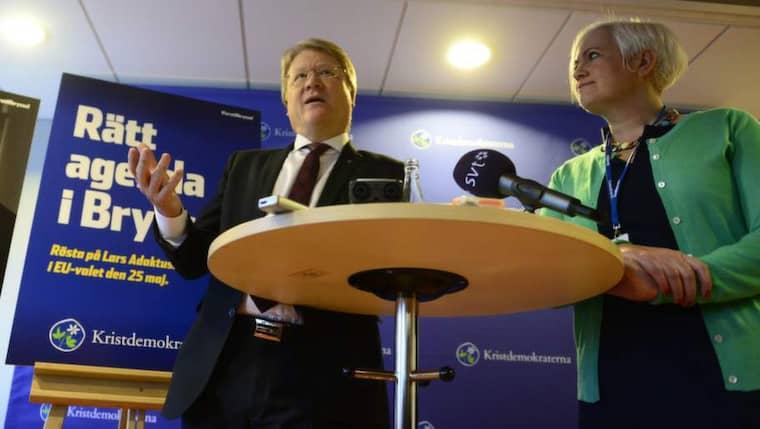 Lars Adaktusson spelar på sin tidigare karriär i kampanjen. Foto: Robin Aron