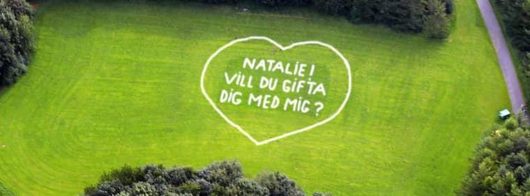 Nu kan du också fria på ett annorlunda sätt - med hjälp av Expressen. Foto: Sten Svensson