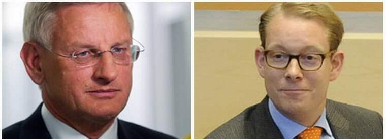 Carl Bildts och Tobias Billströms uttalanden har väckt stark kritik.